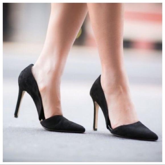 6160653d9222 Banana Republic Shoes - Banana Republic Adelia D orsay Black Suede Heels